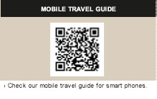 MOBILE TRAVEL GUIDE Check our mobile travel guide for smart phones.